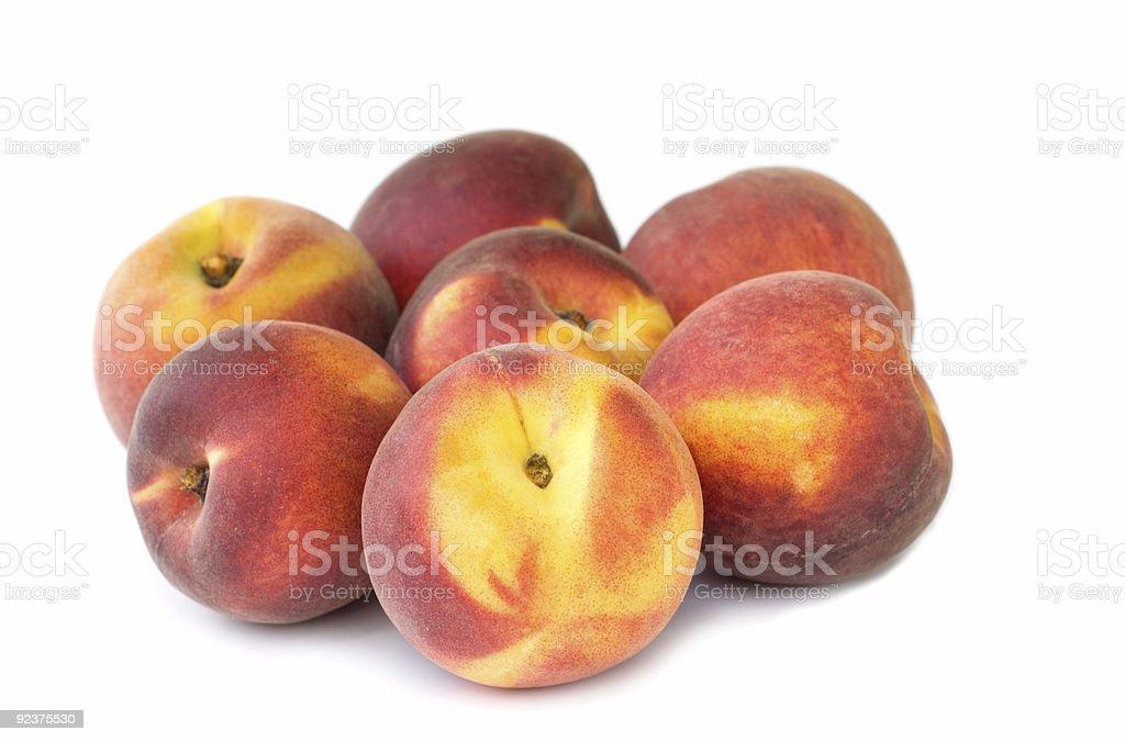 Frische Pfirsiche auf weißem Hintergrund Lizenzfreies stock-foto