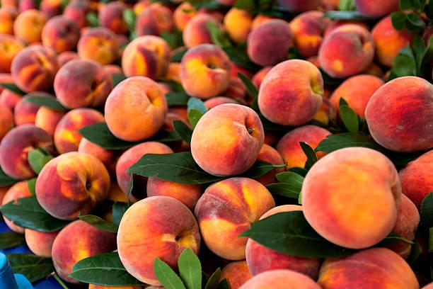 fresh peaches - 桃 個照片及圖片檔