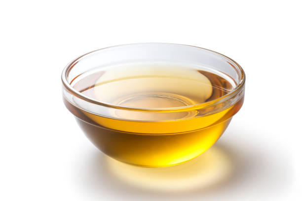 Fresh peanut oil stock photo
