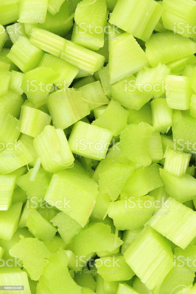 fresh peeled and cutted rhubarb leaf stalks food background texture royalty-free stock photo