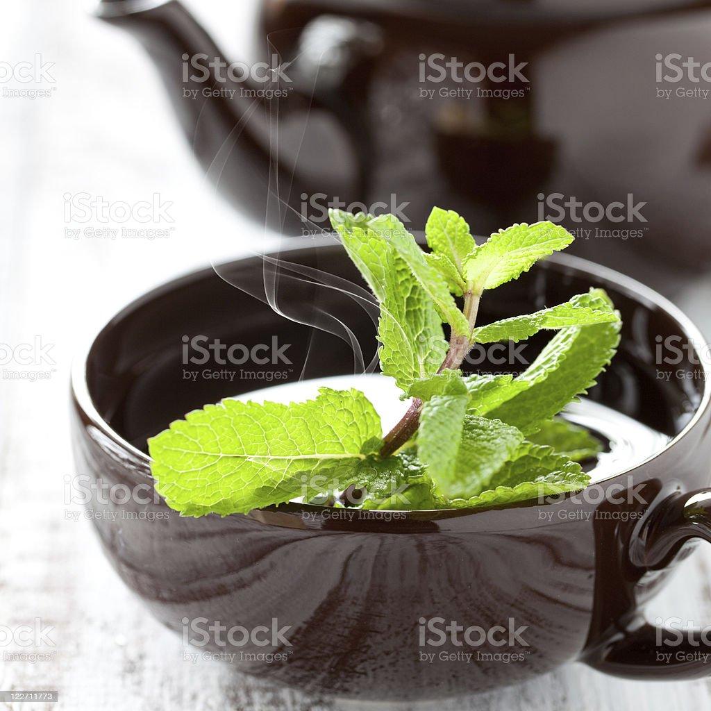 fresh peppermint tea royalty-free stock photo