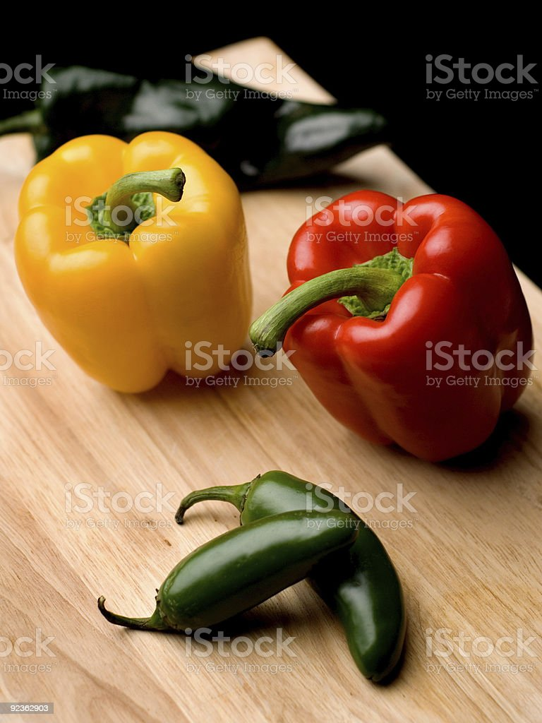 fresh peppers royalty-free stock photo