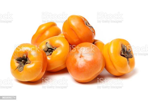 Fresh Persimmon Fruits Isolated On White Background — стоковые фотографии и другие картинки 2015