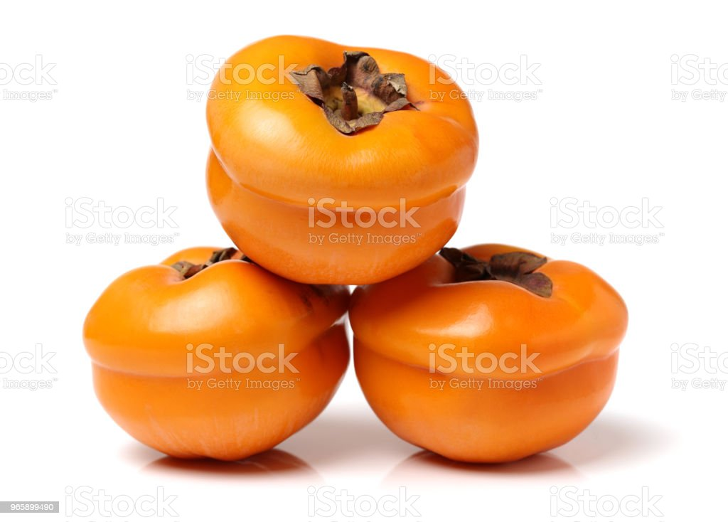 Vers kaki fruit geïsoleerd op witte achtergrond - Royalty-free 2015 Stockfoto