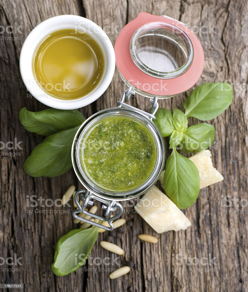 Fresh pesto royalty-free stock photo
