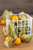 fresh physalis or gooseberries in a little box