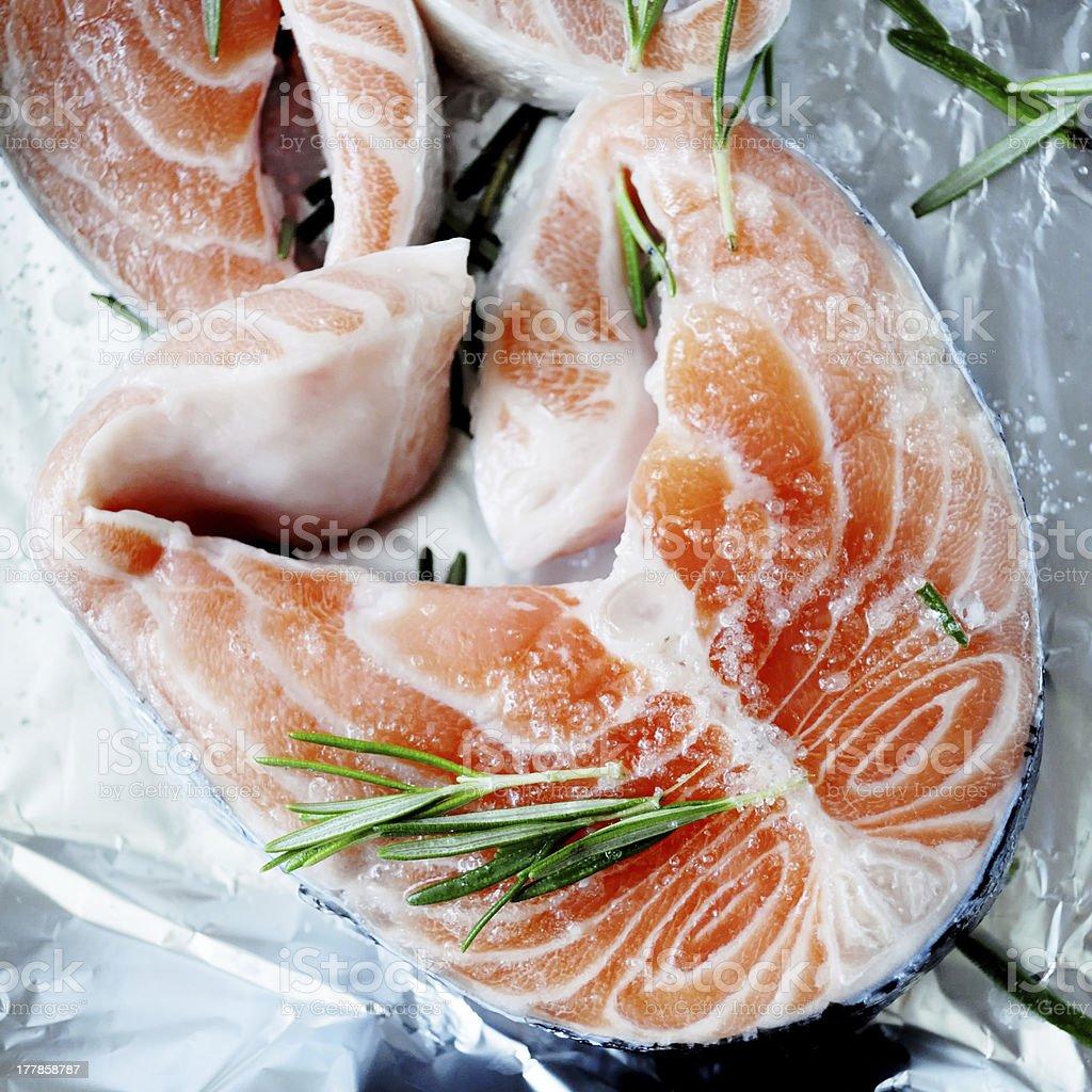 Fresh piece of salmon royalty-free stock photo