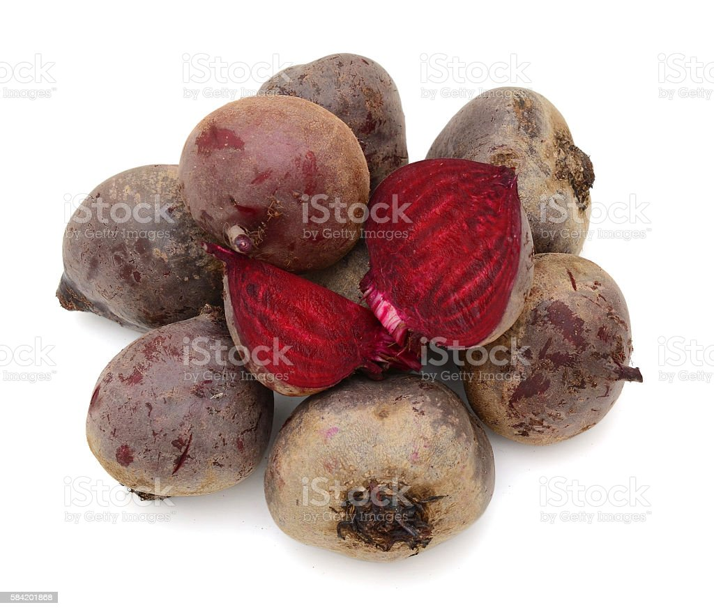 fresh pile of beet on top view stock photo