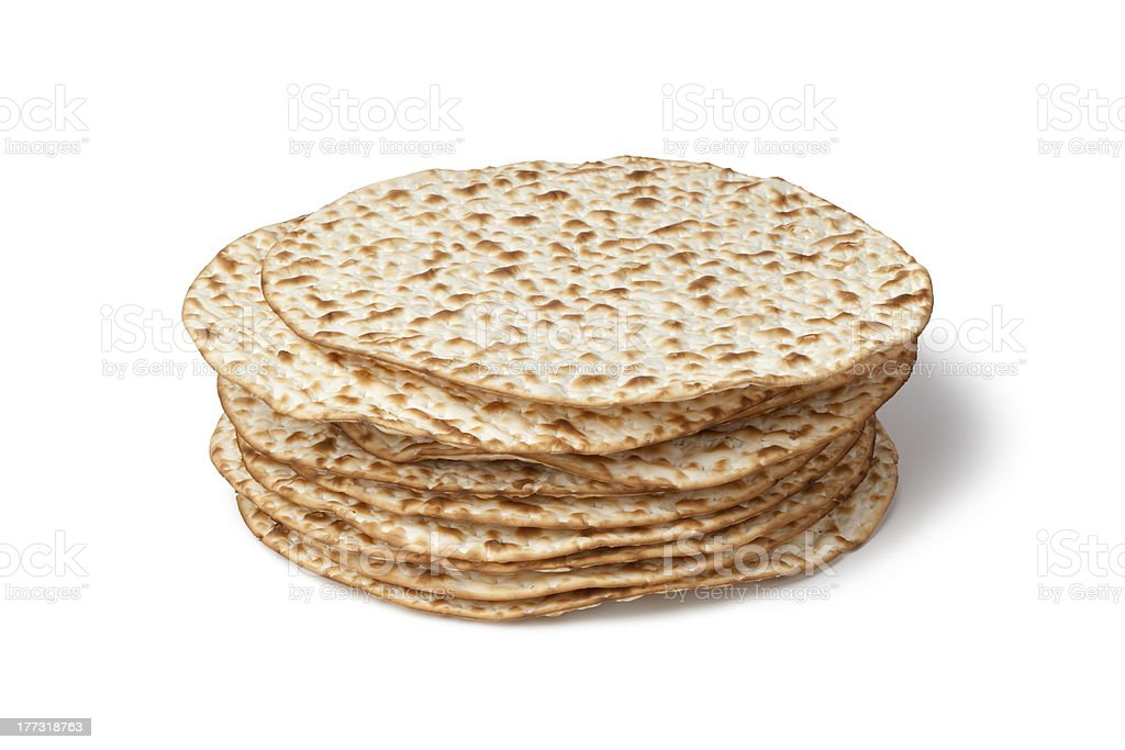 Fresh pile of matzah royalty-free stock photo