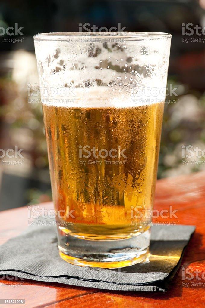 Fresh Pint of Beer royalty-free stock photo