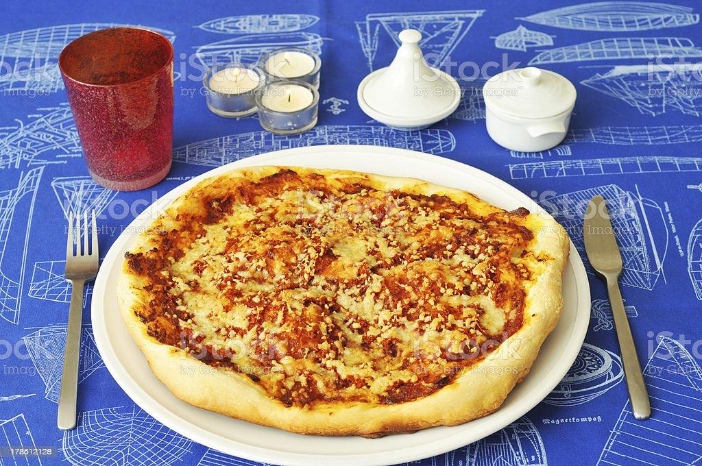 fresh pizza royalty-free stock photo