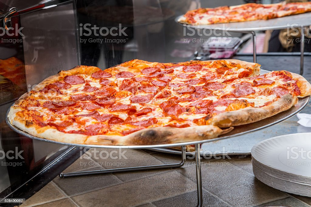 Fresh Pizza Freshly cooked pizza for sale  Baked Stock Photo
