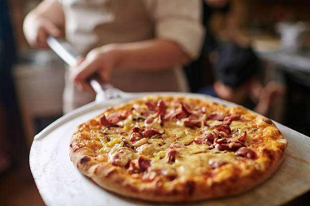 fresh pizza - pizzeria stock photos and pictures
