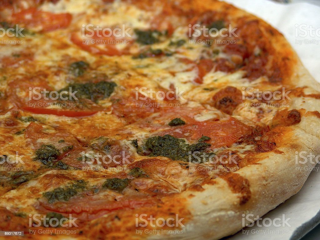 fresh pizza pie close up royalty-free stock photo