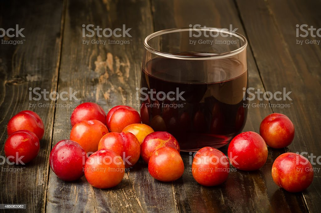 Fresh plum fruit stock photo
