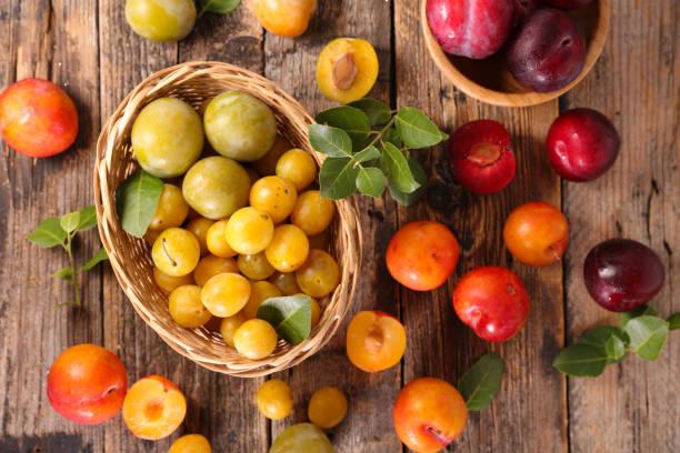 prune fraîche - mirabelle photos et images de collection