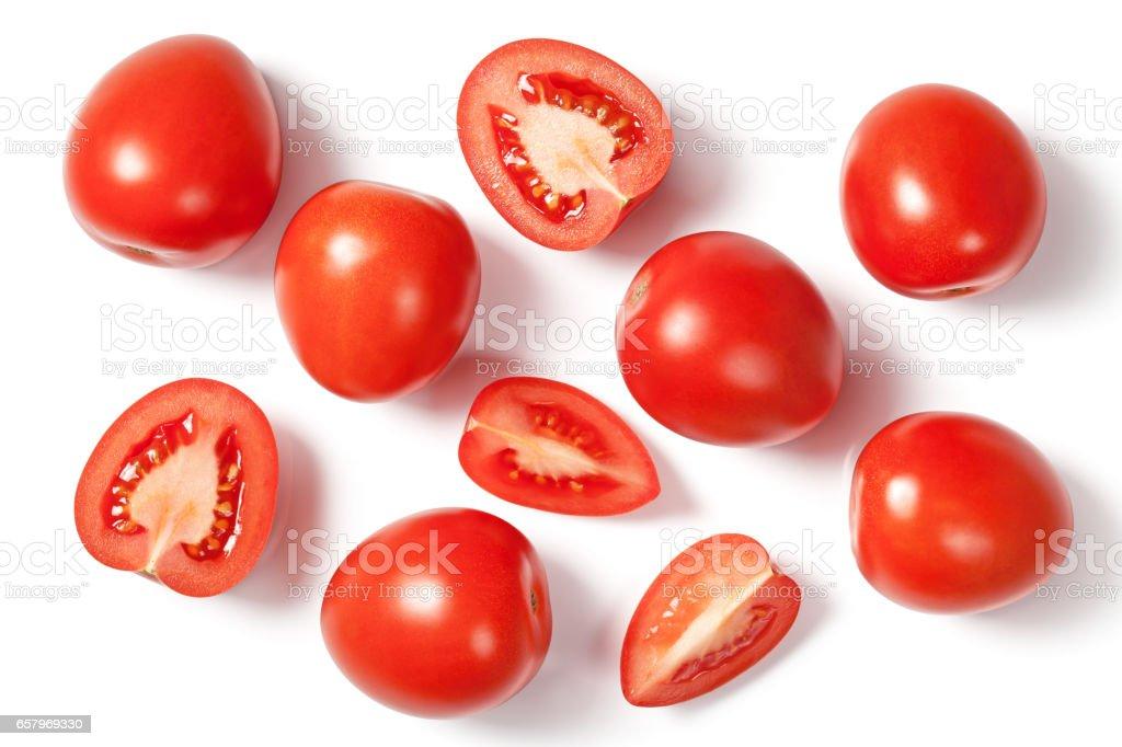 Fresh Plum Tomatoes stock photo