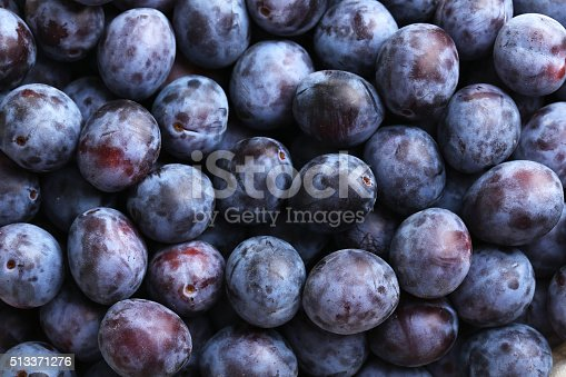 Fresh plums background