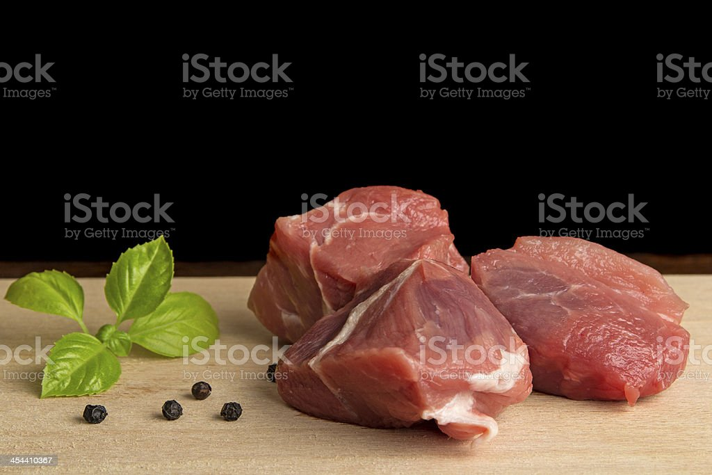 Fresh pork meat royalty-free stock photo