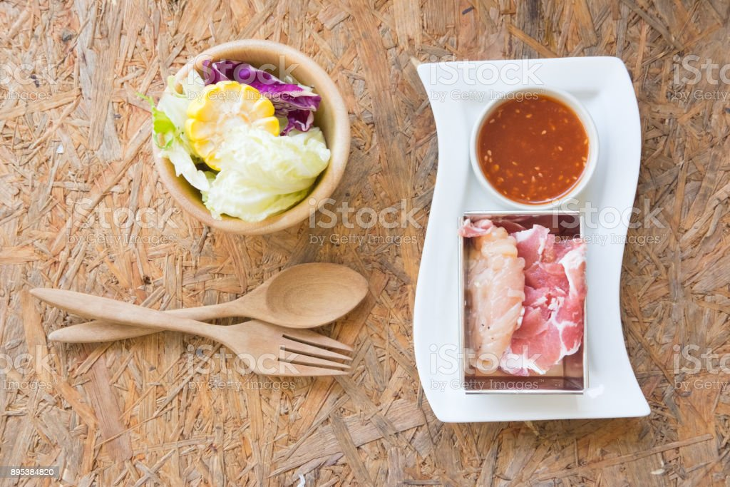 Fresh pork stock photo