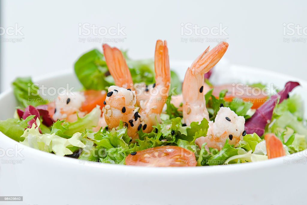 Fresh prawn salad royalty-free stock photo