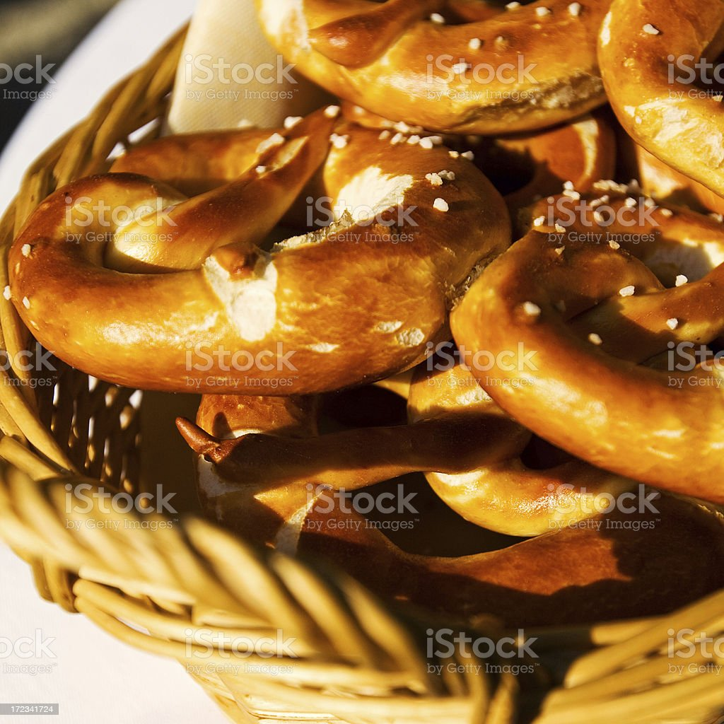 "fresh pretzels ""fresh pretzels - see my pictures from the Celebration at the Oktoberfest in Munich, Germany"" Backgrounds Stock Photo"