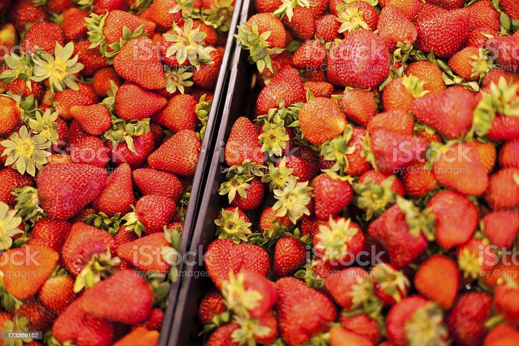 Fresh produce at an outdoor farmer's market royalty-free stock photo