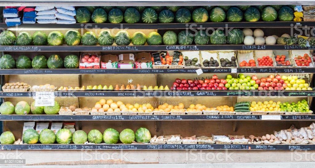 Fresh Produce at NYC Corner Market stock photo