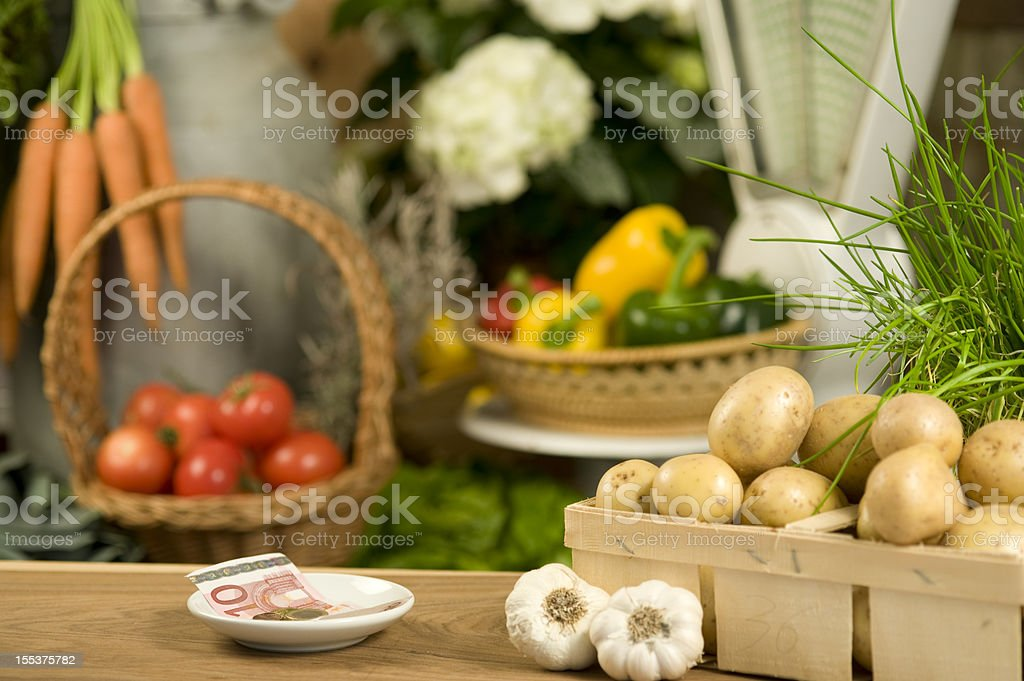 Fresh produce at the Greengrocer´s shop royalty-free stock photo