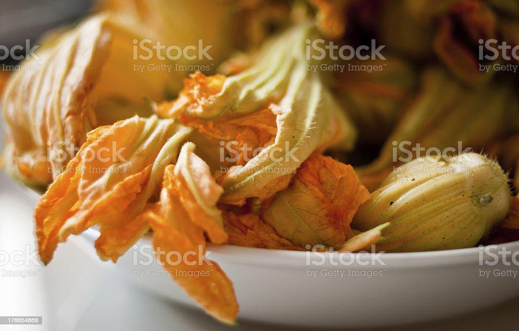 Fresh Pumpkin Flowers royalty-free stock photo