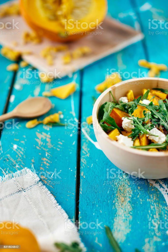 Fresh pumpkin salad stock photo