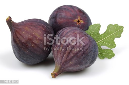 878725126 istock photo Fresh purple fig fruit and slice isolated on white 1166976543
