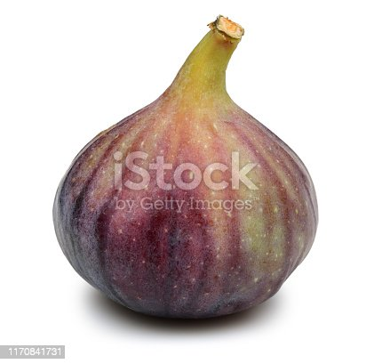 878725126 istock photo Fresh purple fig fruit isolated on white 1170841731