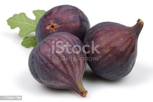 878725126 istock photo Fresh purple fig fruits isolated on white 1170841786