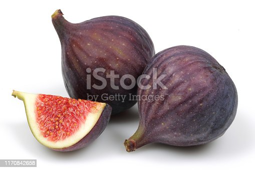 878725126 istock photo Fresh purple fig fruits isolated on white 1170842658