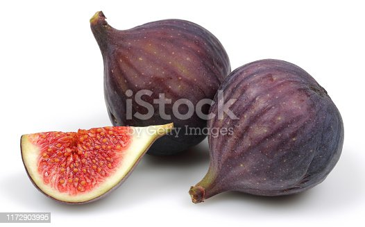 878725126 istock photo Fresh purple fig fruits isolated on white 1172903995