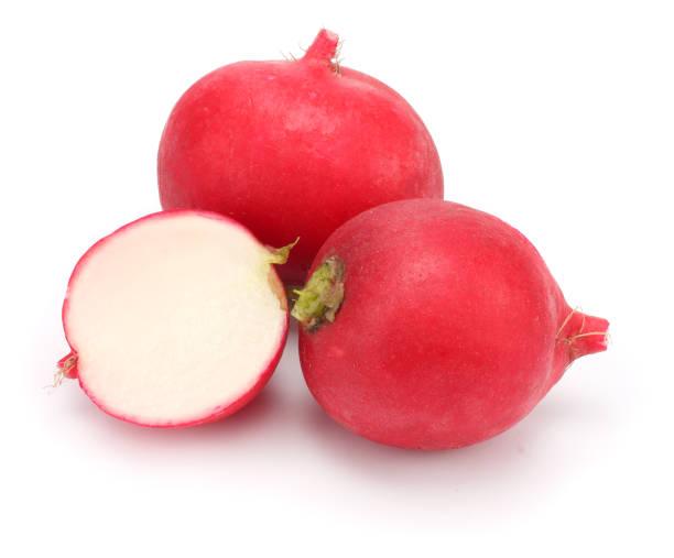 fresh radish isolated on white background stock photo