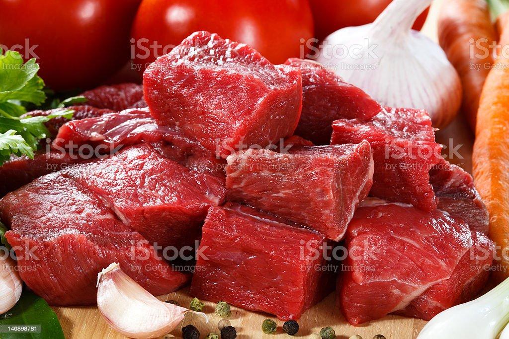 Fresh raw beef on cutting board royalty-free stock photo