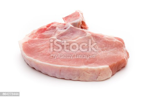 Fresh Raw Beef Steak Isolated On White Background Top View Stock Photo & More Pictures of Barbecue
