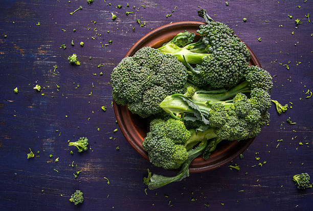 Fresh raw broccoli stock photo