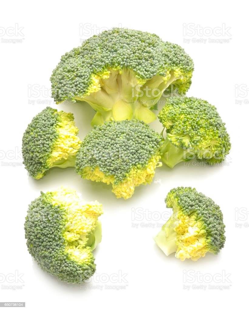 Fresh raw broccoli stock photo