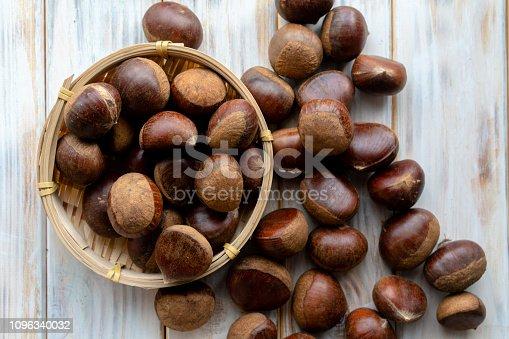 fresh raw chestnut