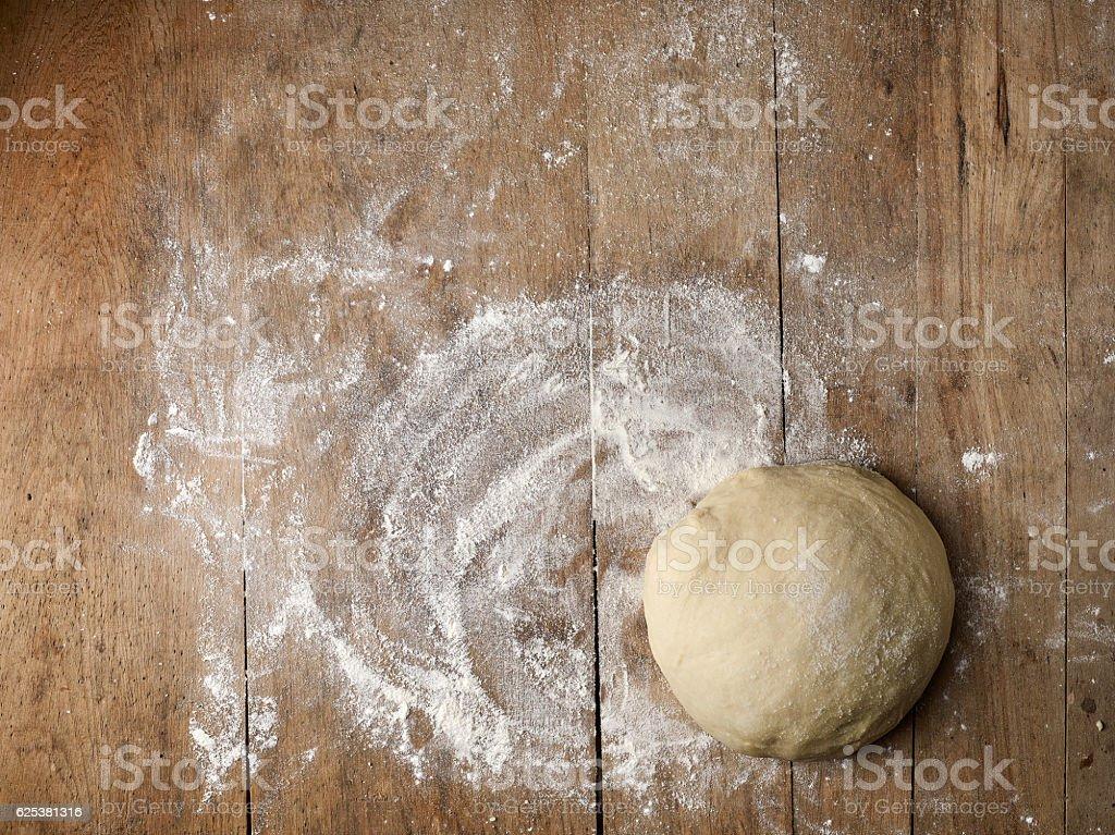 fresh raw dough stock photo