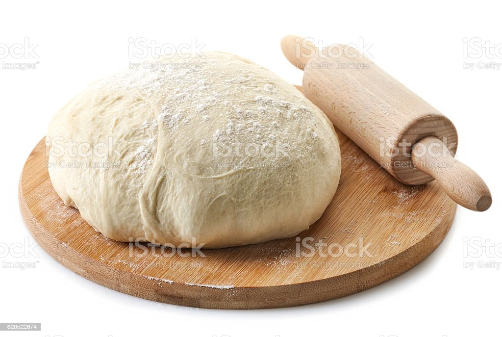 fresh raw dough stock photo