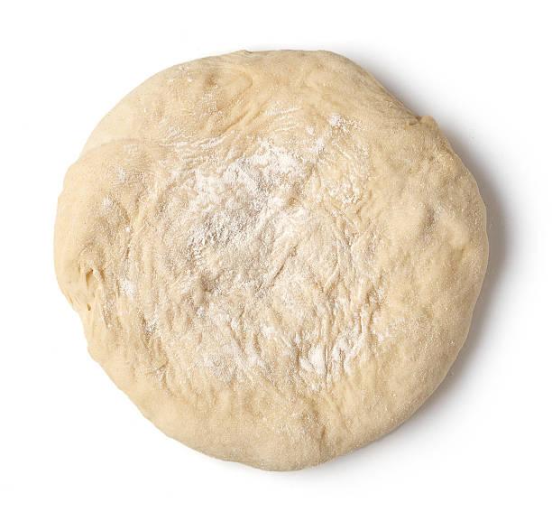 crudo pasta fresca - impasto per il pane foto e immagini stock