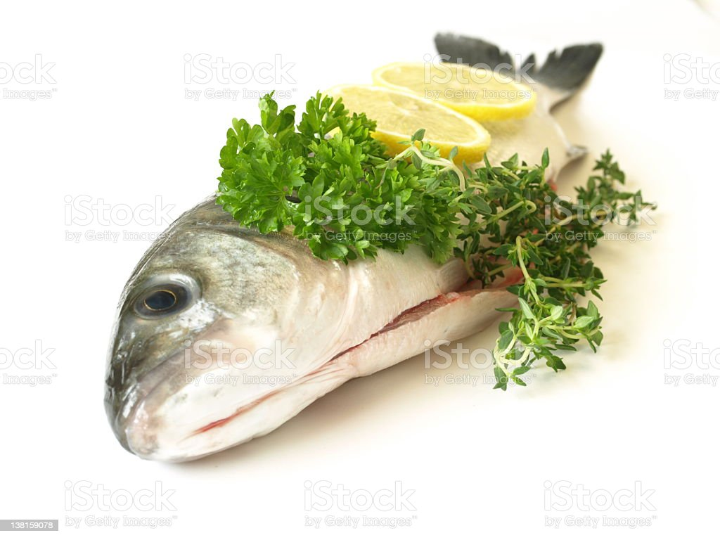 Fresh raw fish royalty-free stock photo
