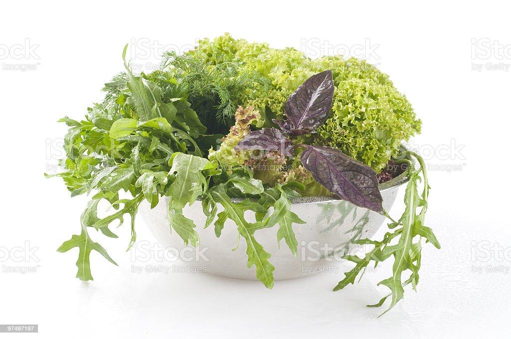 Fresh raw herbs royalty-free stock photo