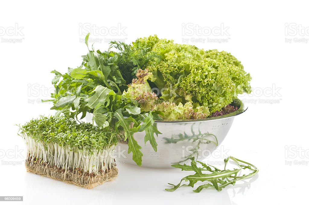 Fresh raw herbs royalty-free stock photo