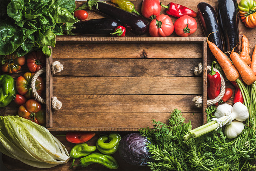 istock Fresh raw ingredients for healthy cooking or salad making with 531476778