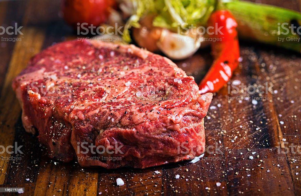 fresh raw meat on cutting board stock photo